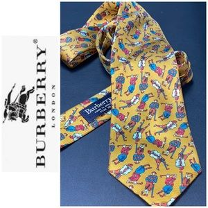 Burberry pure Silk Golfers tie Worn once like new